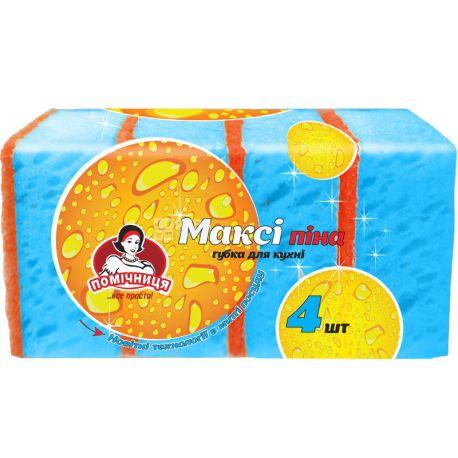Assistant, 4 pcs., Kitchen sponges, Maxi foam, m / s
