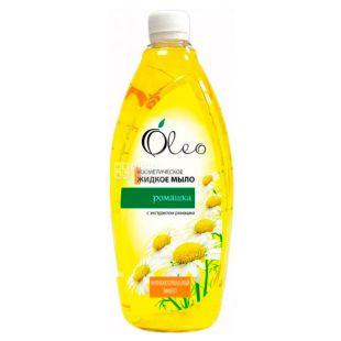 Oleo, 1000 мл, Жидкое мыло, Ромашка, косметическое