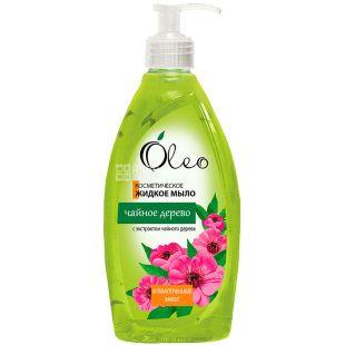 Oleo, 500 мл, Мыло жидкое Чайное дерево, косметическое, антибактериальное