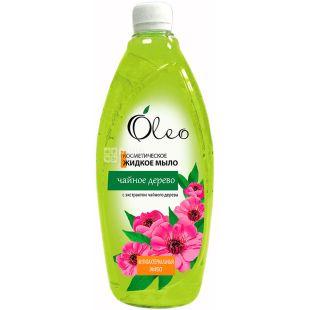 Oleo, 1000 мл, Мыло жидкое Чайное дерево, косметическое, антибактериальное