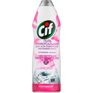 Cif, Universal Cleaning Gel for All Surfaces, Floral Bouquet, 750 ml