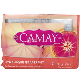 Camay Dynamique, 4 x 75 g, Toilet soap