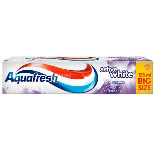 Aquafresh Active White, 125 ml, Active Whitening Toothpaste