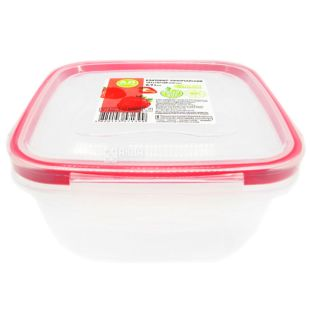 Fresh box, square Container, 0.9 l, 147x147x80 mm
