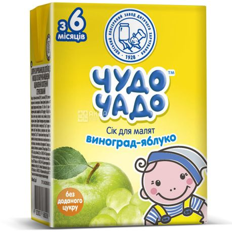 Chudo-Chado, 0.2 l, juice for children, Apple-grape