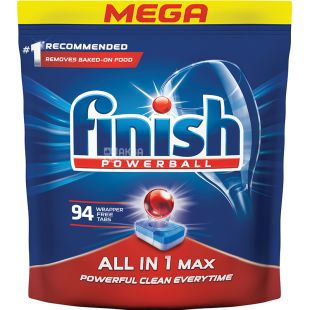 Finish All in 1 Max, Tablets for Dishwashers, 94 pcs.