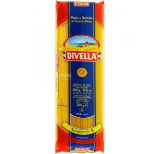 Divella Spaghettini №9, 500г, Макароны Дивелла Спагеттини