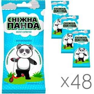 Snow Panda, Kids, 48 packs of 15 each, wet wipes for children, antimicrobial