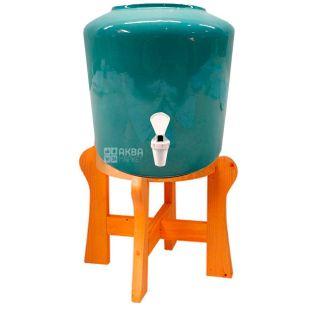 Ceramic water dispenser, Turquoise