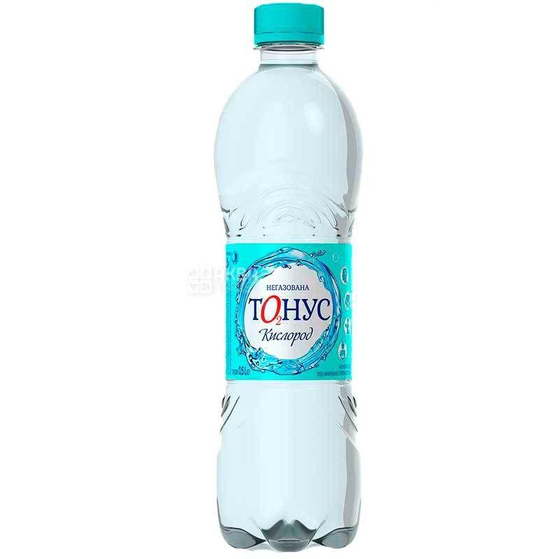 Куяльник Тонус-Кислород, 0,5 л, Вода минеральная негазированная, ПЭТ