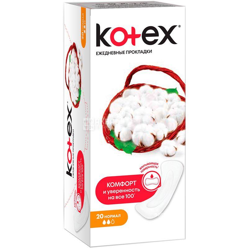 Kotex, Normal, 20 шт., Прокладки ежедневные