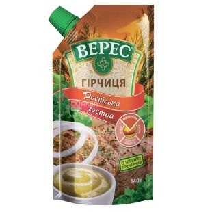 "Veres, 140 g, mustard, ""Russian Spicy"", doy-pack"