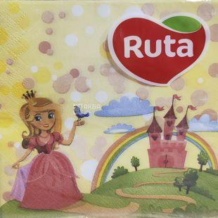 Ruta, 20 шт., Рута, Салфетки бумажные, Сказка, 2-х слойные, 33х33 см