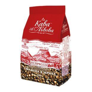 Кава зі Львова, Еспрессо, 240 г, Кава середнього обсмаження, в зернах