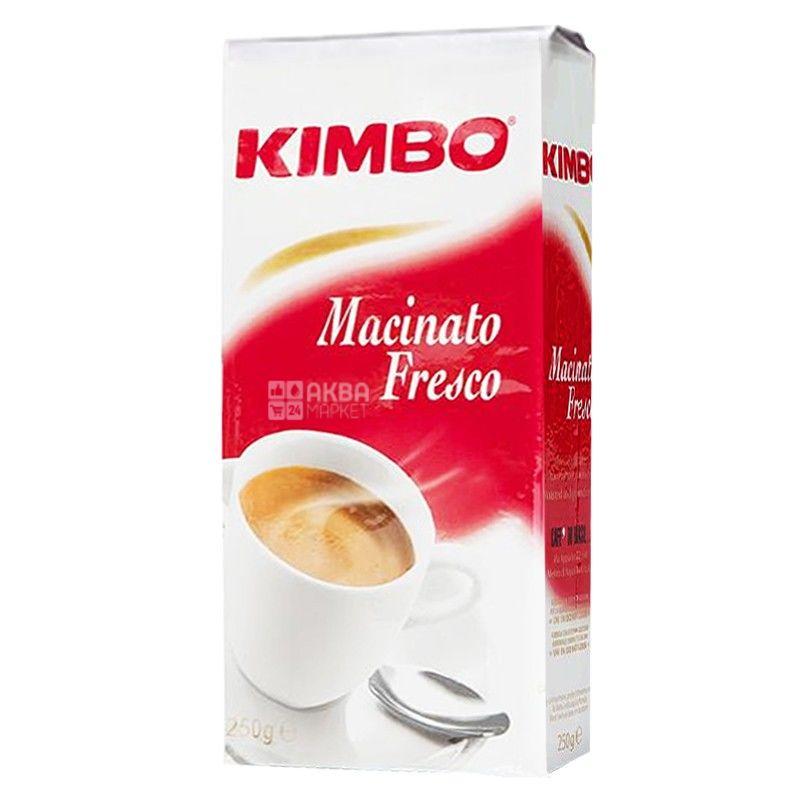 Kimbo Machinato Fresco, 250 г, Кофе Кимбо Макиато Фреско, средней обжарки, молотый