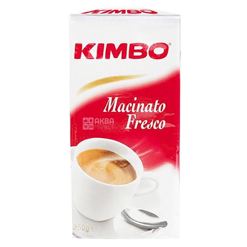 Kimbo Machinato Fresco, 250 г, Кава Кімбо Макіато Фреско, середнього обсмаження, мелена
