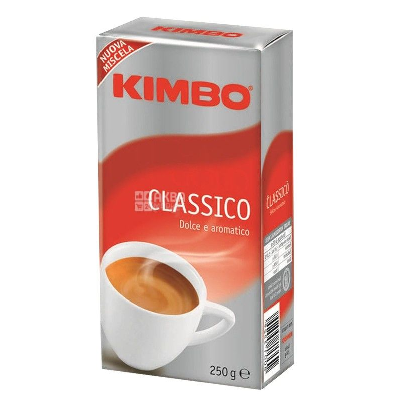 Kimbo Classico, 250 г, Кофе Кимбо Классико, средней обжарки, молотый