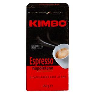 Kimbo Espresso Napoletano, 250 г, Кофе Кимбо Эспрессо Наполетано, средней обжарки, молотый