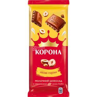 Корона, 85 г, Молочный шоколад с лесным орехом