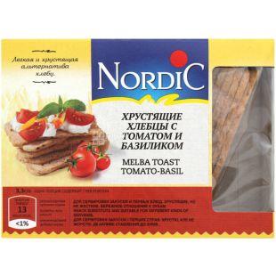 Nordic, 100 г, Хлебцы хрустящие с томатом и базиликом