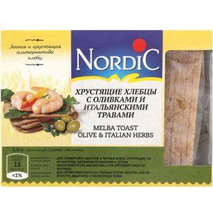 Nordic, 100 г, Хлебцы хрустящие с оливками и итальянскими травами