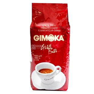 Gimoka Gran Bar, 1 кг, Кофе Джимока Гран Бар, средней обжарки, в зернах