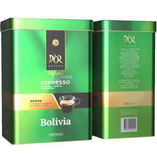 D'OR, Espresso Bolivia 1 кг, Кофе Эспрессо Боливия, зерновой, ж/б