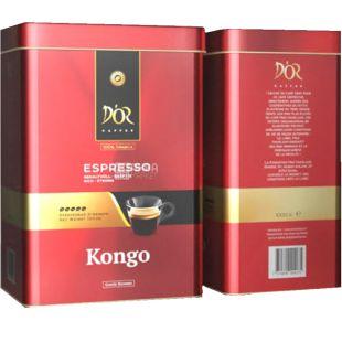 D'OR, Espresso Kongo, 1 кг, Кофе Эспрессо Конго, зерновой, ж/б