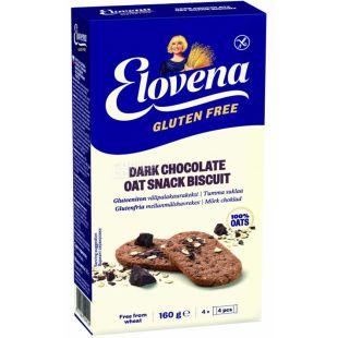 Elovena, 160 г, Галета овсяная с шоколадом, без глютена