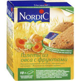 Nordic, Упаковка 10 шт. х 30 г, Галеты овсяные с фруктами