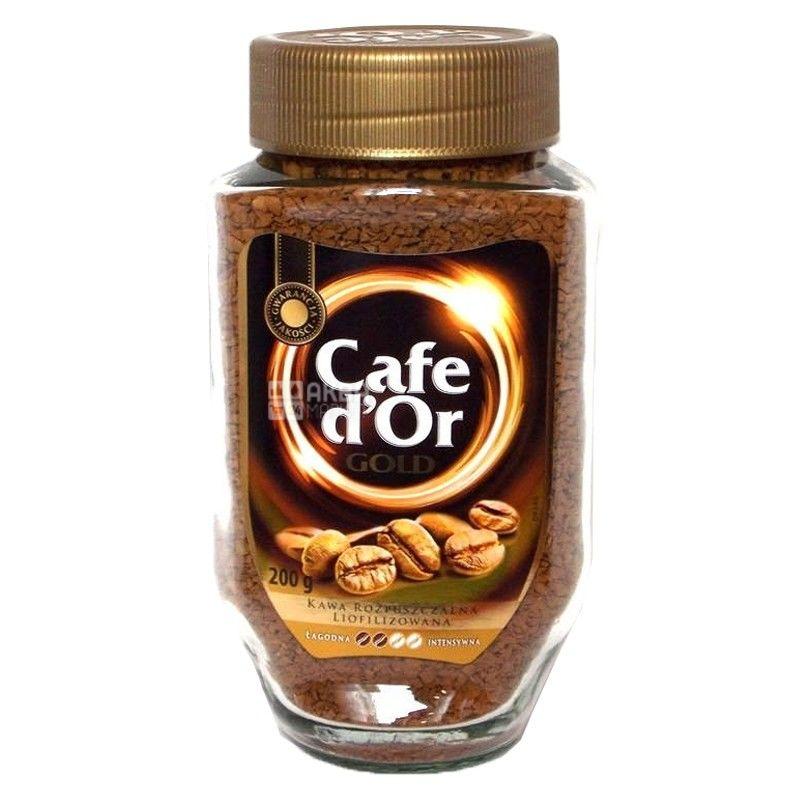 Cafe d'Or Gold, 200 г, кофе, растворимый