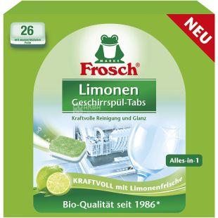 Frosch, Лимон, 26 шт. х 20 г, Таблетки для мытья посуды в посудомоечных машинах