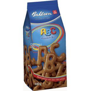 Bahlsen, АВС, 100 г, Печенье фигурное, шоколадное
