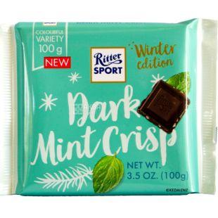 Ritter Sport, 100 г, Темный шоколад с мятной начинкой