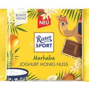 Ritter Sport, 100 г, Молочный шоколад, с начинкой йогурт-фундук-мед