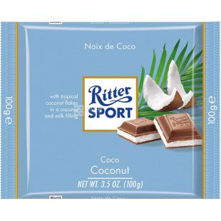 Ritter Sport, 100 г, Молочный шоколад, Кокос с молочным кремом