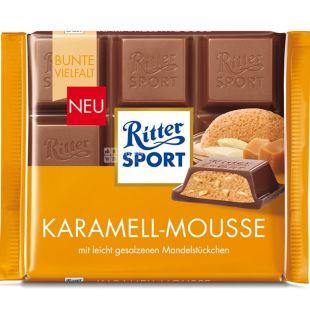 Ritter Sport, 100 г,  Молочный шоколад, Карамель-мусс