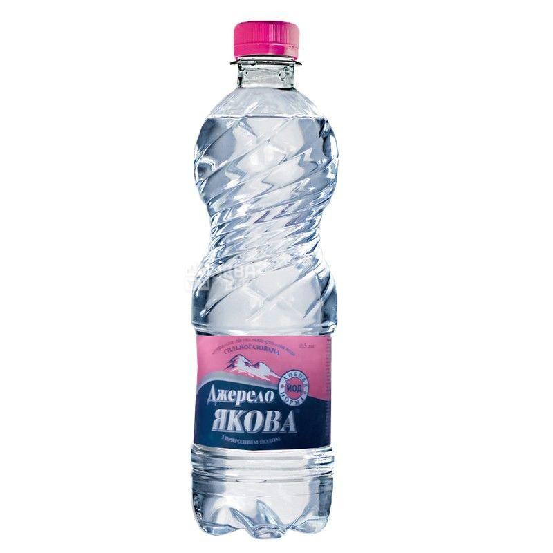Джерело Якова, 0,5 л, Вода минеральная сильногазированная, ПЭТ