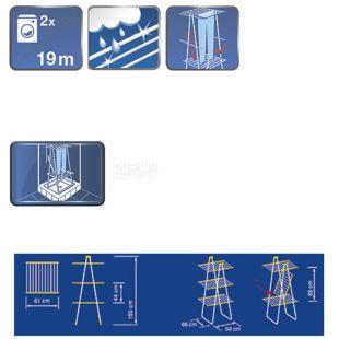 Leifheit Pegasus Tower, Напольная сушилка для белья, трехуровневая, 150 см