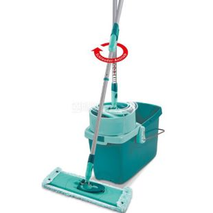 Leifheit, Clean Twist System, Набор для уборки, Швабра с губкой + универсальное ведро + механизм отжима