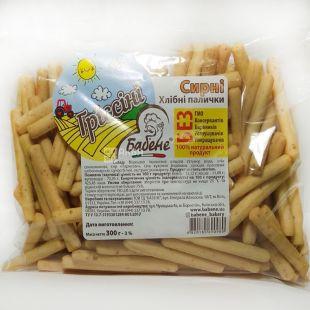 Бабене, Гриссини, 300 г, Хлебные палочки со вкусом сыра