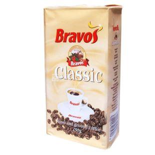 Bravos Classic, 250 г, Кава Бравос, 100% Робуста, середнього обсмаження, мелена