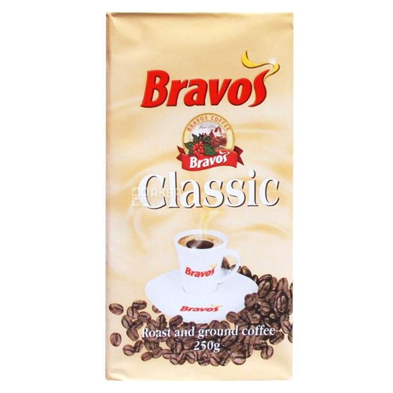 Bravos, 250 г, молотый кофе, Classic