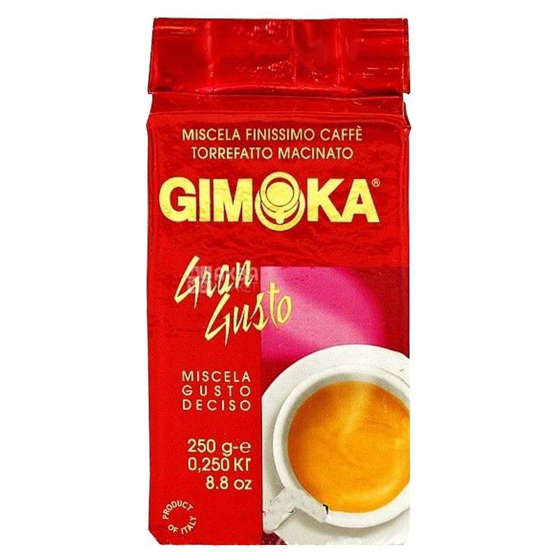 Gimoka Gran Gusto, 250 г, Кофе Джимока Гран Густо, средней обжарки, молотый