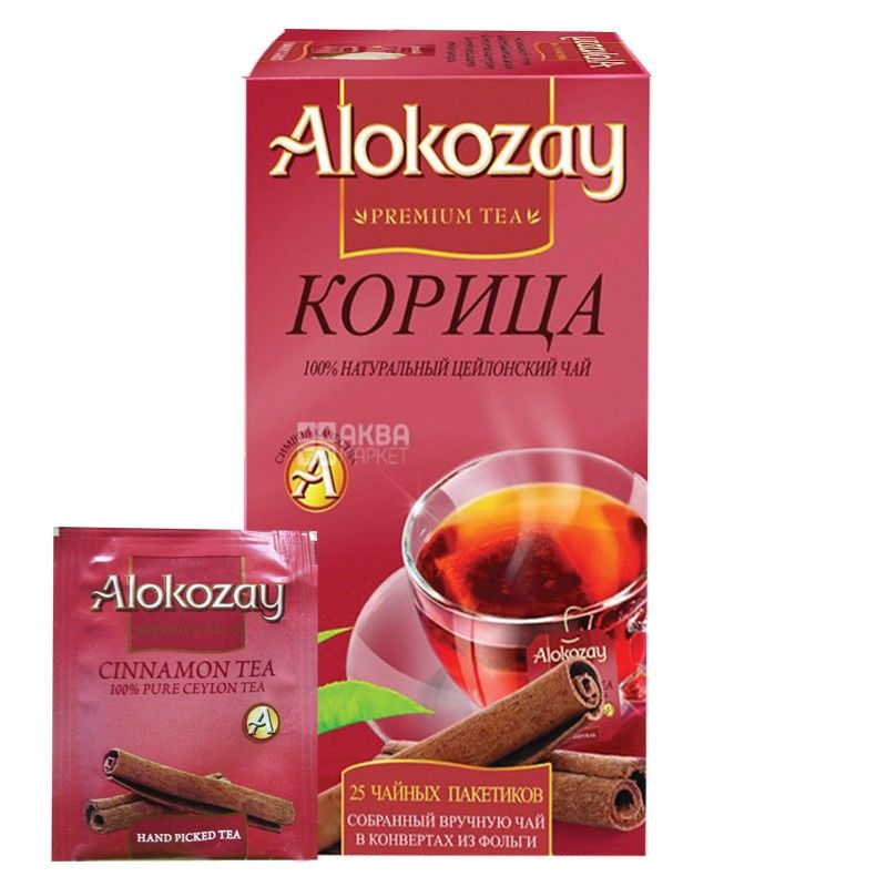 Alokozay, 25 шт., чай чорний, з корицею