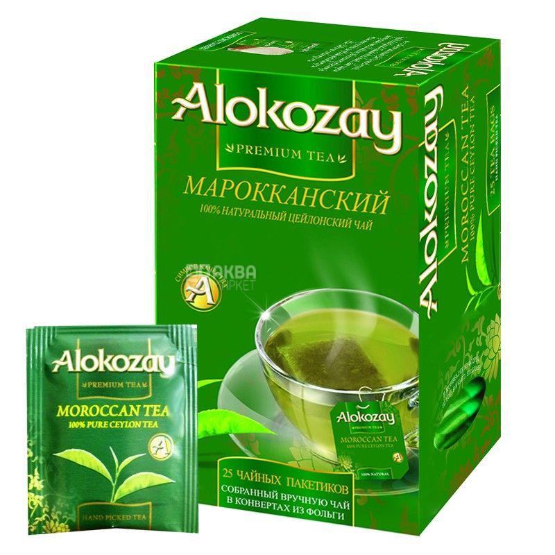 Alokozay, 25 пак, Чай зеленый Алокозай с мятой, Марокканский
