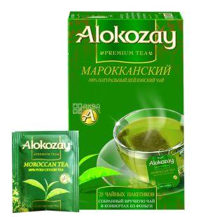 Alokozay, 25 шт., чай зелений, з м'ятою, Марокканський