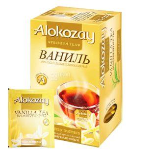 Alokozay, 25 шт., Чай чорний, Ваніль