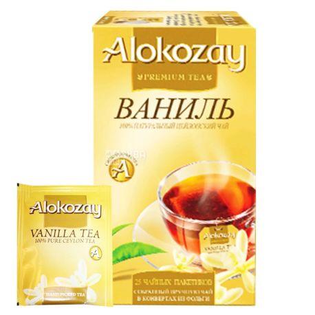 Alokozay, 25 шт., Чай черный, Ваниль