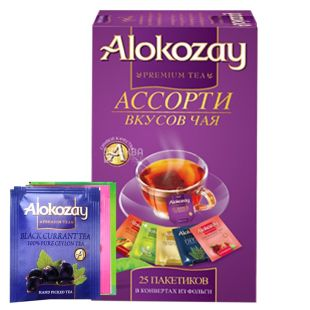 Alokozay, 25 пак, Чай фруктовый Алокозай, Ассорти